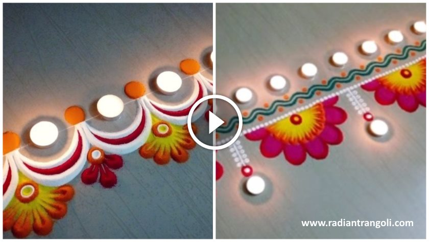 Easy Border Rangoli Design For Diwali - Radiant Rangoli on